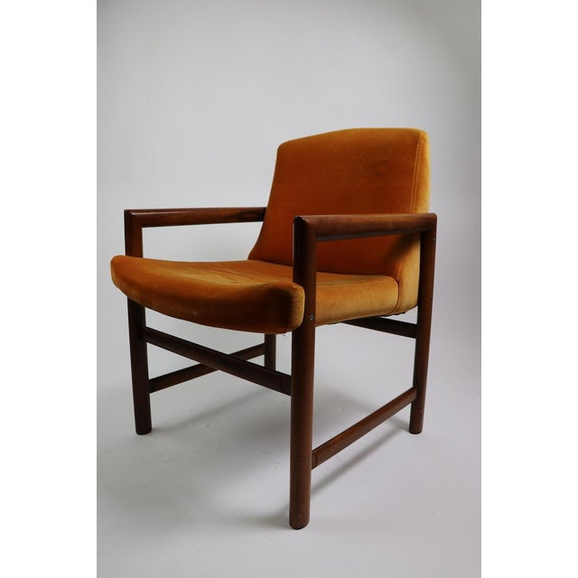 Brown Set of 6 Rosewood Frame Dining Chairs by Baughman For Sale - Image 8 of 13