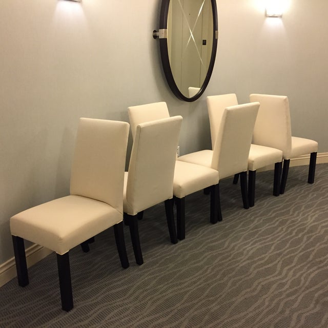 a beautiful set of six cisco brothers parsons dining chairs ready to be slip covered or - Parsons Dining Chairs