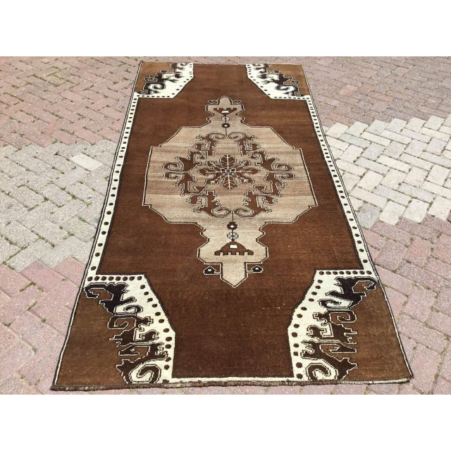 Brown Turkish Area Rug For Sale - Image 9 of 9