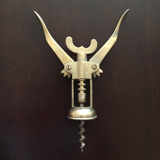 Modern Solid Brass Corkscrew For Sale - Image 3 of 5