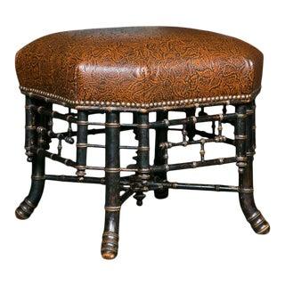 Regency Style Hexagonal Stool For Sale