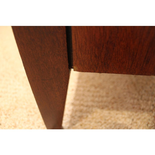 Mid-Century Danish Modern Hidden Pull Walnut Credenza For Sale - Image 11 of 11