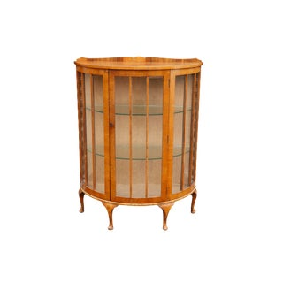 Queen Anne Style Demilune Cabinet For Sale
