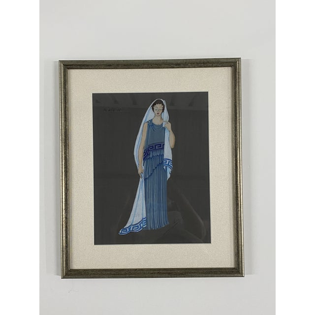 Charcoal Original Framed Theater Costume Sketches by Autry - Set of 16 For Sale - Image 8 of 13