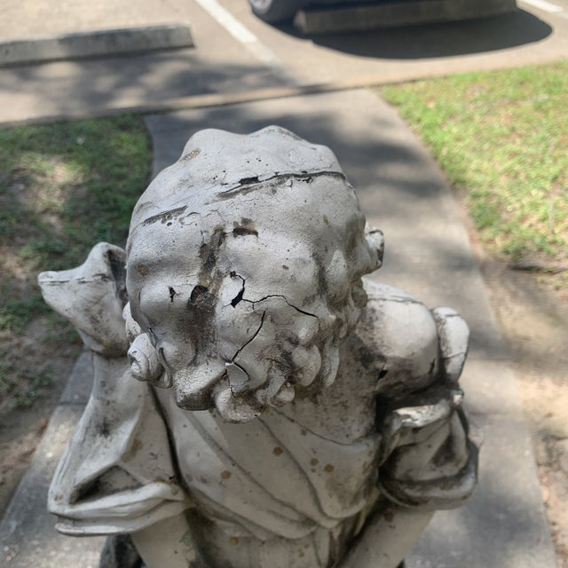 Concrete 1930s Vintage Resin Statue For Sale - Image 7 of 13