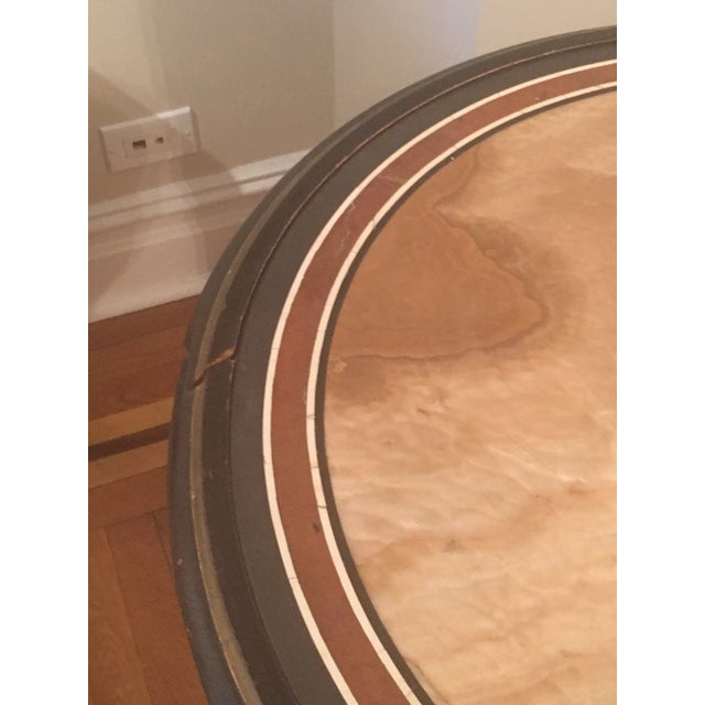 Onyx Marble & Wood Side Table For Sale - Image 4 of 6