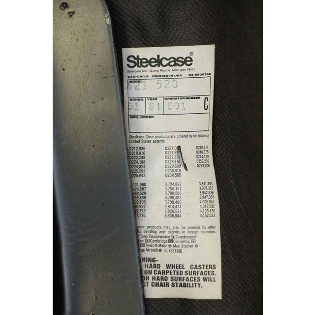 Black Steelcase Office Chair For Sale - Image 8 of 8