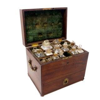 Circa 1850-1880 English Mahogany Apothecary Box For Sale