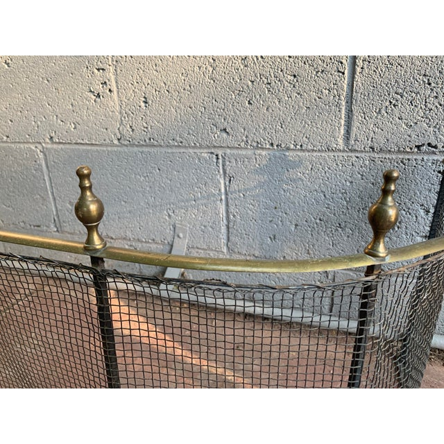 1800 Federal Style Brass and Wire Steeple Top Fire Fender For Sale - Image 9 of 13
