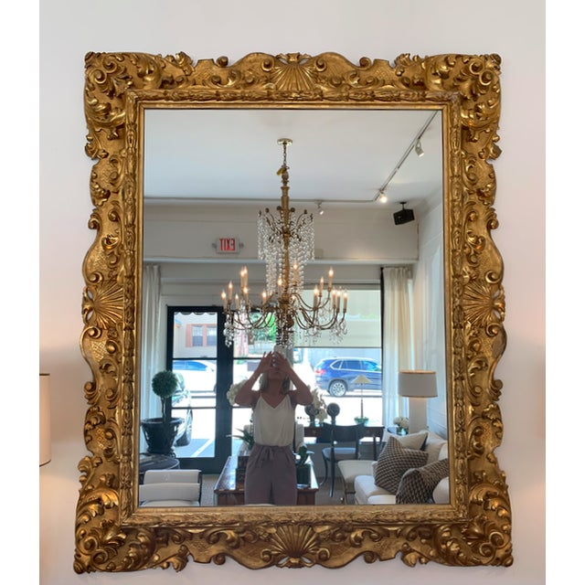 Mid 20th Century Italian Gold Gilded Mirror For Sale - Image 5 of 5