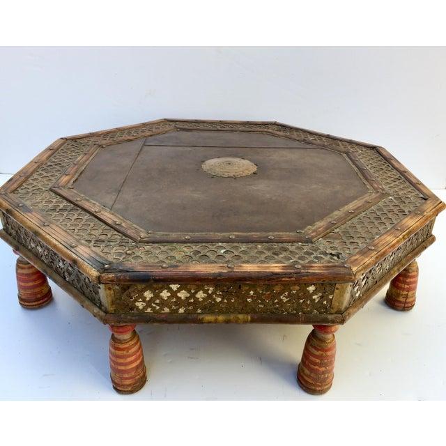 Anglo Raj Moorish Design Octagonal Low Coffee Table For Sale - Image 12 of 12