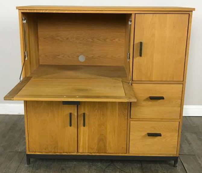 office armoire. Wonderful Armoire Room U0026 Board Linear White Oak Office Armoire  Image 6  On H