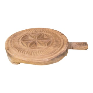 Beli Nepalese Carved Lotus Chakla Stand For Sale