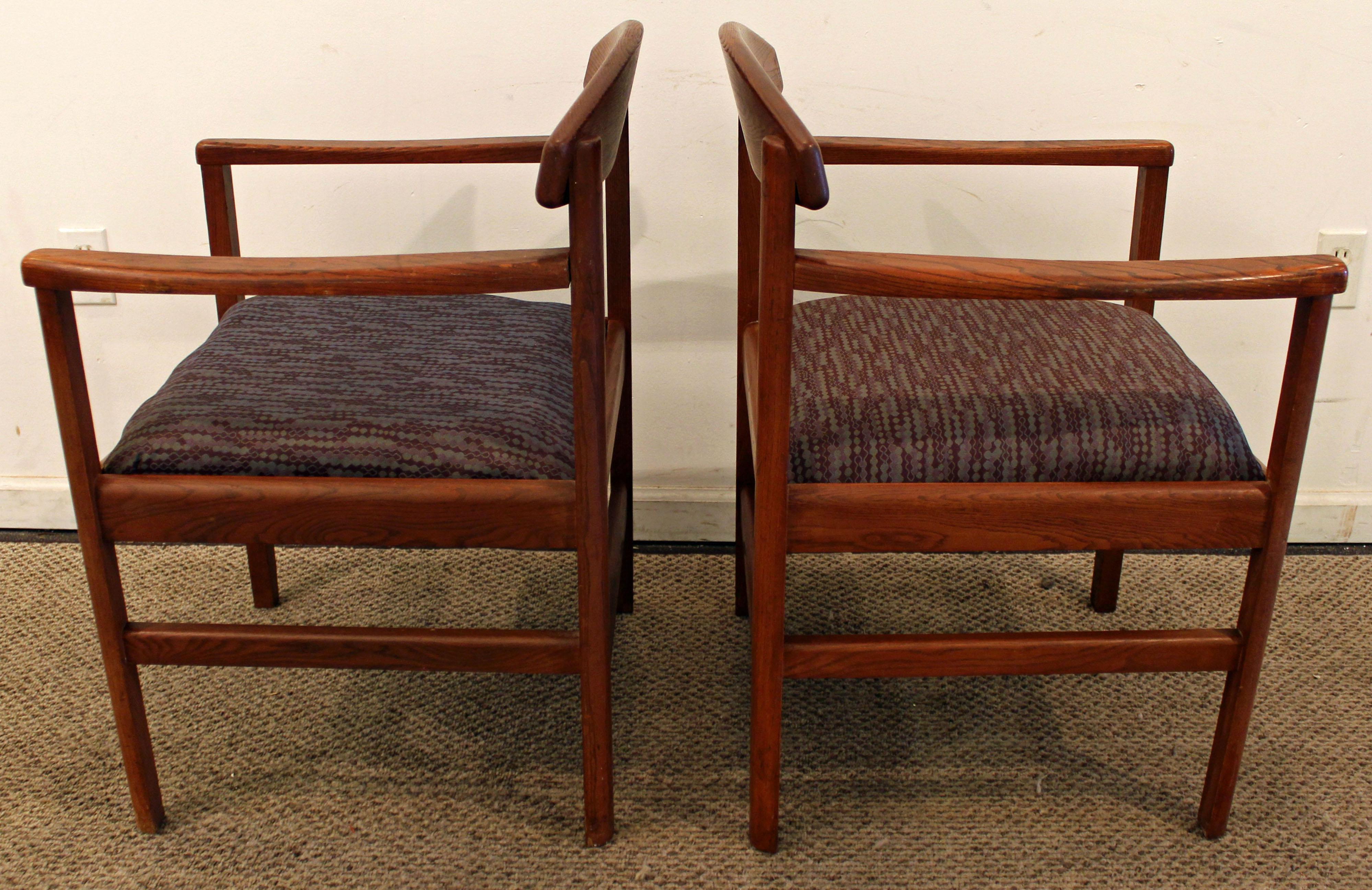 Mid Century Danish Modern Edward Axel Roffman Teak Arm Chairs   A Pair    Image