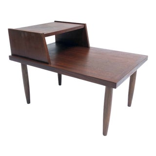 Vintage Mid-Century Modern Walnut Side Table For Sale