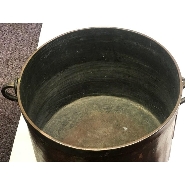 Copper French Rustic Copper Pot For Sale - Image 8 of 11