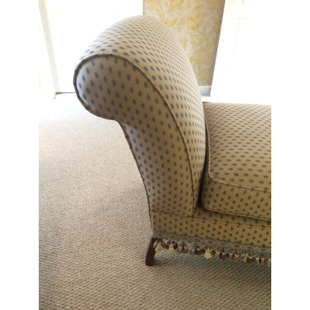 1990s 1990s Traditional Pierre Frey Upholstery Cream Slipper Chair For Sale - Image 5 of 11