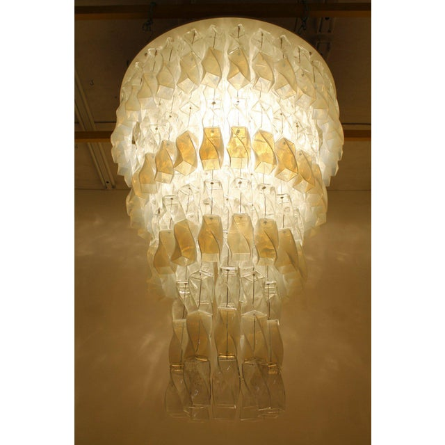 Huge Murano Chandelier by Roberto Pamio & Renato Toso for Leucos, Italy, 1970 For Sale - Image 10 of 10