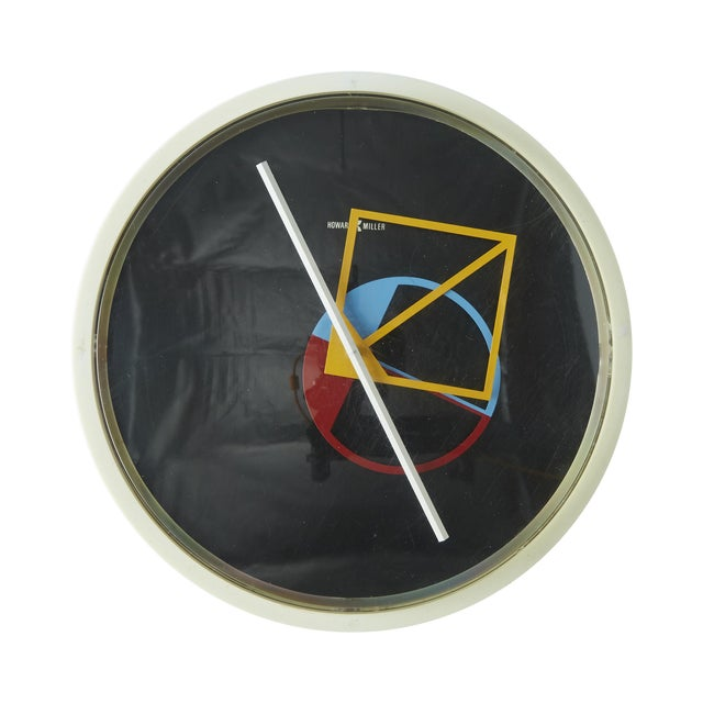Memphis Style Wall Clock by George Nelson For Sale