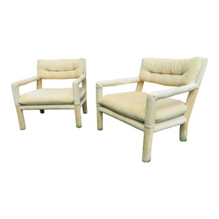 Mid-Century Modern Parsons Lounge Chairs - A Pair