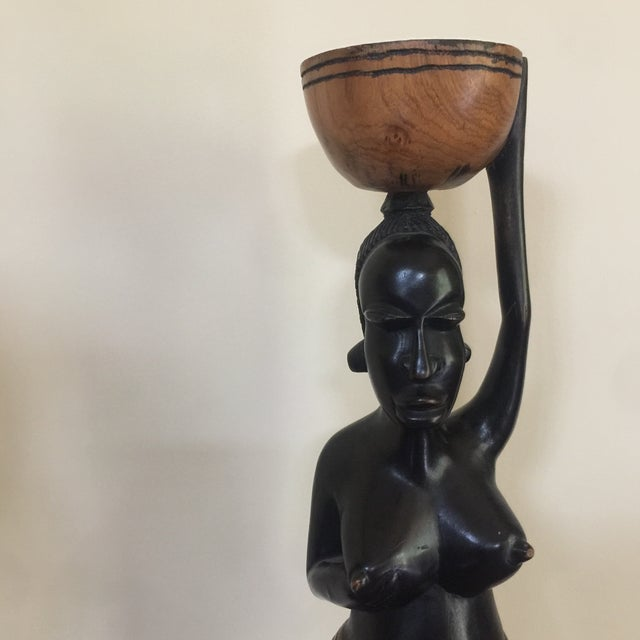 Solid Wood African Mothering Sculpture For Sale In Atlanta - Image 6 of 6
