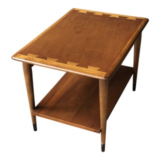 Mid Century Modern Lane Acclaim End Table Two Tier Rectangular Side Table For Sale