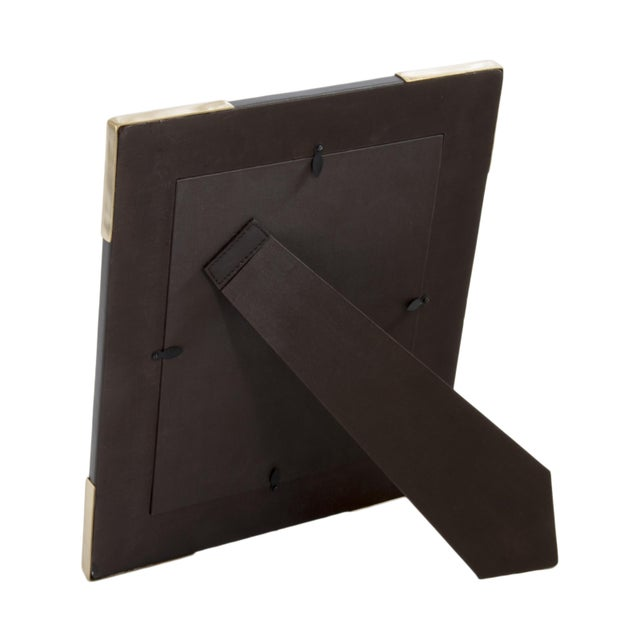 Contemporary Derby Chocolate Brown Leather Frame For Sale - Image 3 of 4