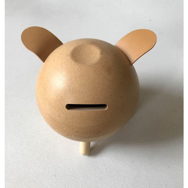 Vintage Danish Piggy Bank With Leather Ears For Sale - Image 4 of 7