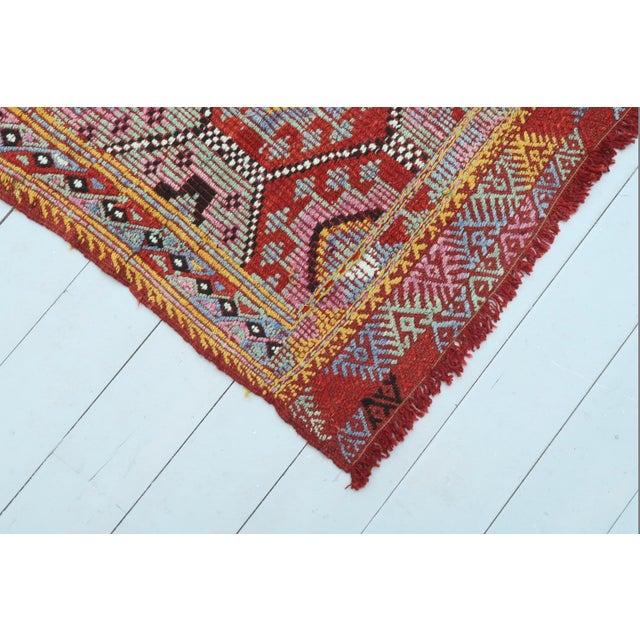 1960s Vintage Turkish Fethiye Nomad's Flat Weave Rug For Sale - Image 5 of 12