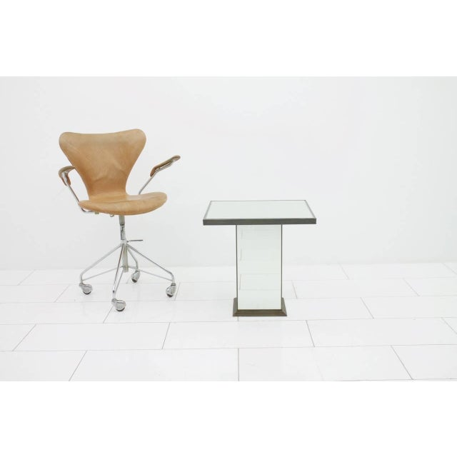 Metal Fully Mirrored Side or End Table, France, 1970s For Sale - Image 7 of 8