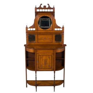 1910s Edwardian Period Tall Narrow Chiffonier Gentlemen's Stand
