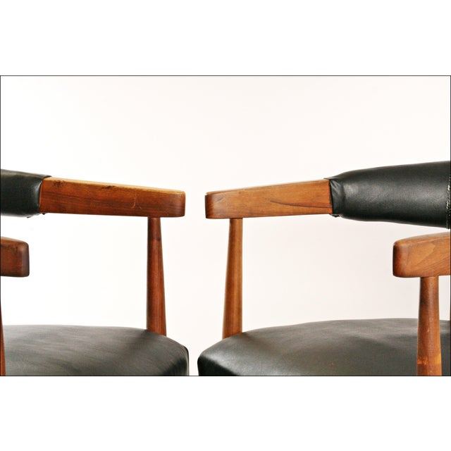 Danish Modern Accent Chairs - Pair - Image 4 of 11