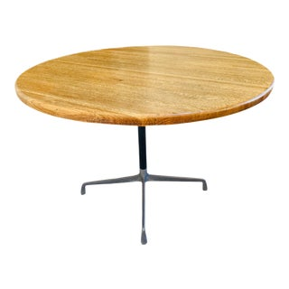Herman Miller Wood Butcher Block Topped Dining Table For Sale