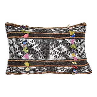 16'' X 24'' Bohemian Decor Long Turkish Kilim Rug Pillow Cover, Cottage Chic (40 X 60 Cm) For Sale
