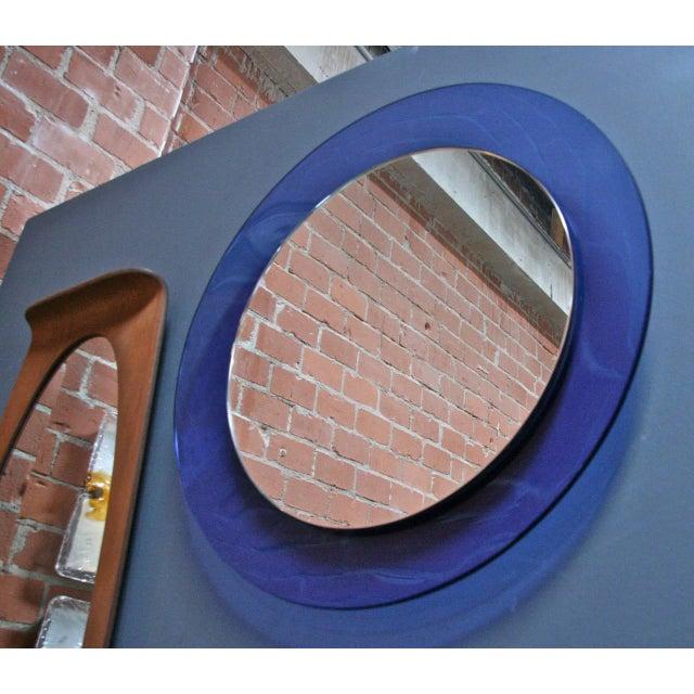 Italian Italian 1960s Cobalt Blue Mirror For Sale - Image 3 of 5