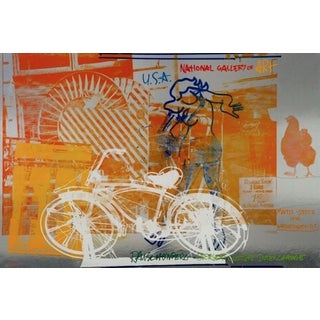 Robert Rauschenberg Bicycle, 1991 National Gallery of Art Exhibition Poster 1991 For Sale