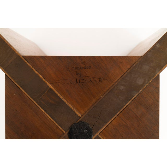 Frank Lloyd Wright Side Table For Sale - Image 10 of 10