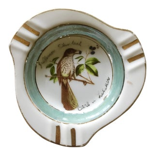 Vintage 1950's Painted Bird Ash Tray For Sale