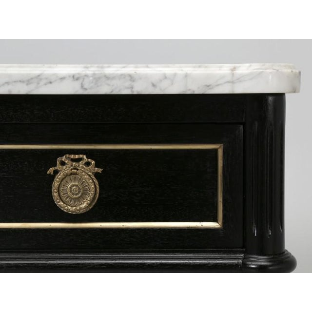 Mid 20th Century Petite French Louis XVI Ebonized Buffet For Sale - Image 5 of 11