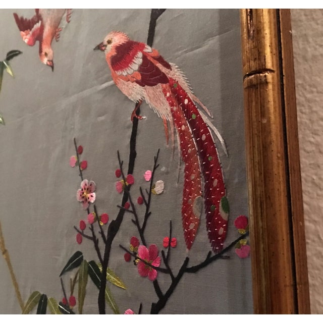 Vintage Chinese Suzhou Embroidery For Sale - Image 4 of 7