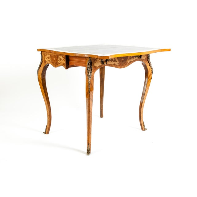 Kingwood / Mounted Bronze Details Card Table For Sale In New York - Image 6 of 13