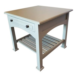 Drexel Heritage Artisan Bungalow Collection Painted Tiered Side Table For Sale