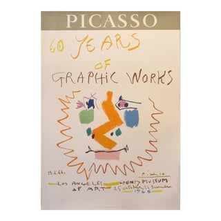 1966 Picasso Exhibition Poster, Los Angeles County Museum For Sale