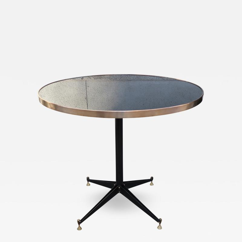 An Iron And Brass Round Table, Italy 1960   Image 5 Of 5