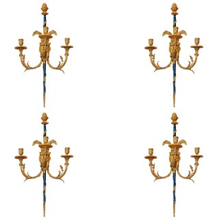 Set of Louis XVI Bronze Wall Lights For Sale