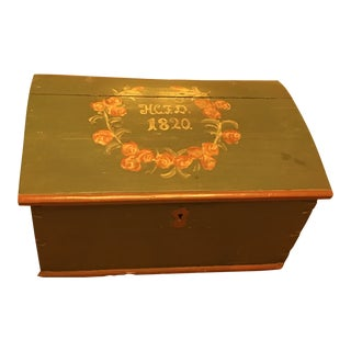 1820 Antique Danish Trunk For Sale