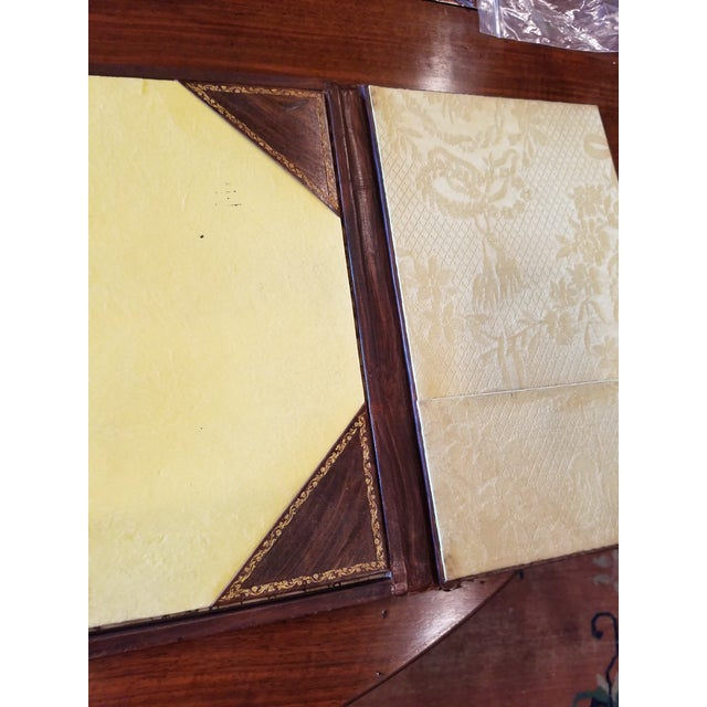 Leather Antique Gilt Leather Double Folding Blotter For Sale - Image 7 of 13