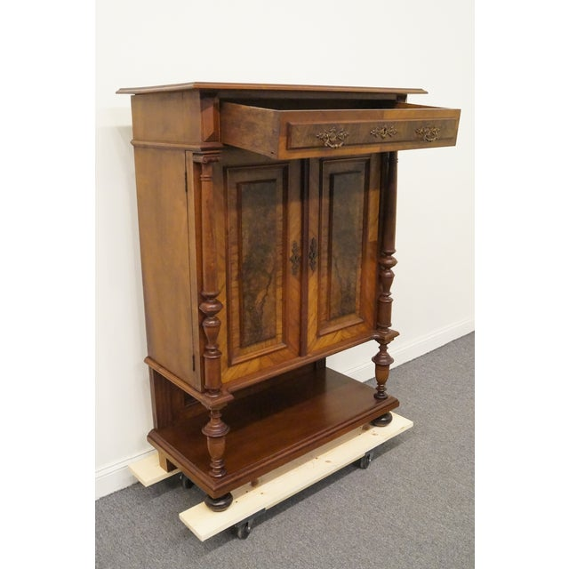 20th Century Traditional Burl Walnut and Mahogany Court Cupboard For Sale In Kansas City - Image 6 of 12