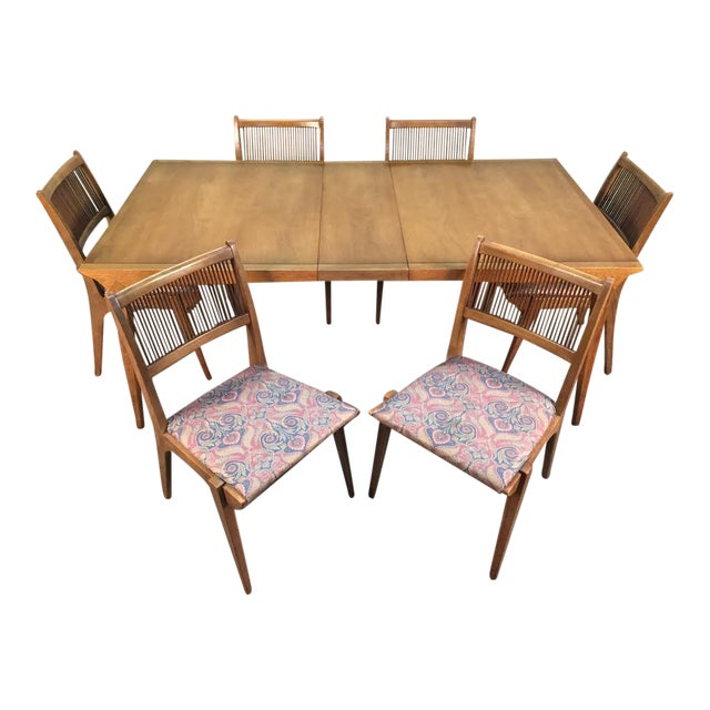John Van Koert for Drexel Dining Set With Six Chairs - Image 1 of 11
