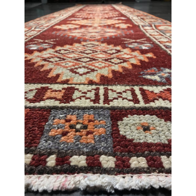 "Bellwether Rugs Vintage Turkish Oushak Runner - 2'9"" X 11'4"" - Image 5 of 11"